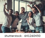 victory  group of young... | Shutterstock . vector #641260450
