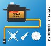 digital servo motor in hobby toy | Shutterstock .eps vector #641261689