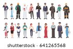 set of different people... | Shutterstock .eps vector #641265568
