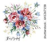 flower bouquet | Shutterstock . vector #641267158