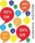 pattern from color offer labels ... | Shutterstock .eps vector #641270188