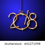 2018 happy new year background... | Shutterstock .eps vector #641271598