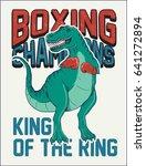 fighter dinosaur vector... | Shutterstock .eps vector #641272894