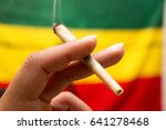 marijuana spliff | Shutterstock . vector #641278468
