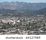 aerial view of burbank  ca and... | Shutterstock . vector #64127989