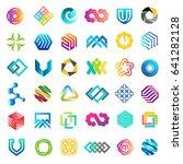 big vector set of logo design.... | Shutterstock .eps vector #641282128