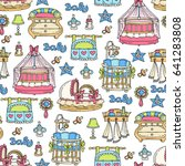 vector seamless pattern with... | Shutterstock .eps vector #641283808
