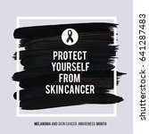 skin cancer and melanoma... | Shutterstock .eps vector #641287483