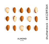 seamless pattern with almond.... | Shutterstock . vector #641289364