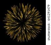 vector abstract shiny gold star ... | Shutterstock .eps vector #641291479