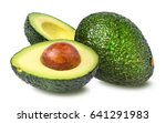 Avocado Isolated On White...