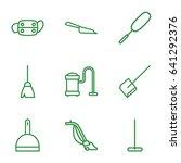 dust icons set. set of 9 dust... | Shutterstock .eps vector #641292376