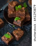 delicious homemade chocolate... | Shutterstock . vector #641293879