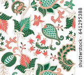 seamless pattern with fantasy...   Shutterstock .eps vector #641295388