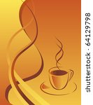 a cup of hot black coffee.... | Shutterstock .eps vector #64129798