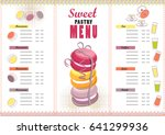 vector set of menu for cafe... | Shutterstock .eps vector #641299936