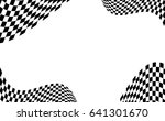 checkered flag. racing flag... | Shutterstock .eps vector #641301670