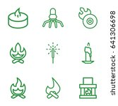 flame icons set. set of 9 flame ... | Shutterstock .eps vector #641306698