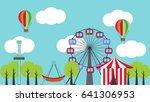 amusement park poster... | Shutterstock .eps vector #641306953