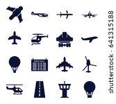 flight icons set. set of 16...   Shutterstock .eps vector #641315188
