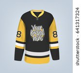 vector illustration of hockey... | Shutterstock .eps vector #641317324