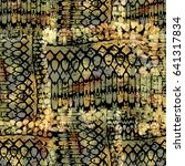 seamless pattern ethnic design. ... | Shutterstock . vector #641317834