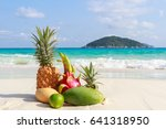 Tropical Fruits On The Sandy...