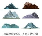mountain landscape snow nature... | Shutterstock .eps vector #641319373