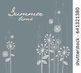floral hand draw card  white... | Shutterstock .eps vector #641321380