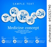 medical concept  medicine... | Shutterstock .eps vector #641321740