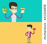 two food banners with space for ... | Shutterstock .eps vector #641326858