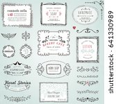 hand drawn labels  frames ... | Shutterstock .eps vector #641330989