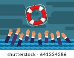 helping business survive.... | Shutterstock .eps vector #641334286