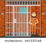 prisoner  flat vector... | Shutterstock .eps vector #641335168