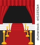 a stage with a red carpet... | Shutterstock .eps vector #641335264