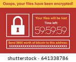 computer infected by malware... | Shutterstock .eps vector #641338786