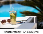 mojito cocktail with lime and...   Shutterstock . vector #641339698
