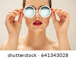 close up shot of young woman in ... | Shutterstock . vector #641343028