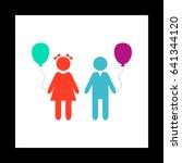 children simple vector button....