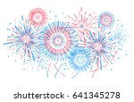 vector holiday firework.... | Shutterstock .eps vector #641345278