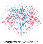 vector holiday firework.... | Shutterstock .eps vector #641345314