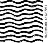 hand drawn vector seamless... | Shutterstock .eps vector #641347084