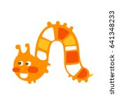 cute cartoon orange caterpillar ... | Shutterstock .eps vector #641348233