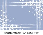 drawn background with frame ... | Shutterstock . vector #641351749