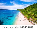 aerial view of boracay island ... | Shutterstock . vector #641355409