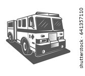 fire truck vector illustration... | Shutterstock .eps vector #641357110
