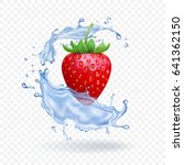 Ripe Fresh Strawberry With...
