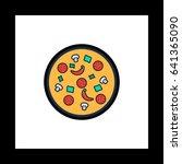 pizza simple vector button....