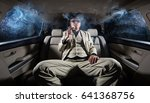 a rich man in a white suit and... | Shutterstock . vector #641368756