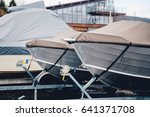 boat storage facility. power... | Shutterstock . vector #641371708